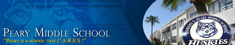 Robert E. Peary Middle School  Logo